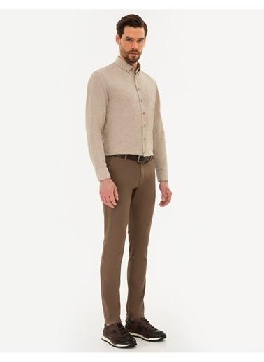 Pierre Cardin Pierre Cardin Açık Kahverengi Pantolon Kahve